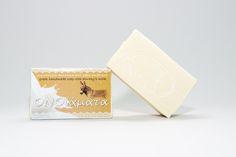 Handmade soap with donkey milk 23% and olive oil (ONOiamata-Handmade cosmetics)