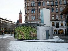 """The first outdoor """"green wall"""" in Sweden? Will be located at Sundstorget in central Helsingborg, scheduled for July 2013."""