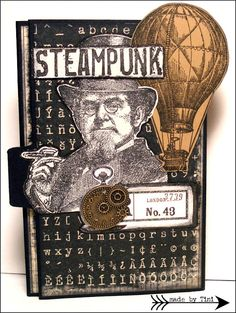 Notizblock to Go; Steampunk by Arts by Tini