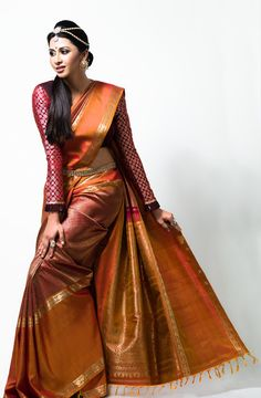 Gayathri Iyer in venkatagiri silk sarees Ad photoshoot ~ Tamil actress