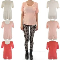SUPER-SOFT Basic Tee with Patch Pocket  $12.00 Free Domestic Shipping