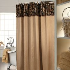Highgate Manor Black Forest Shower Curtain Set Black Tan New Sold Out Online