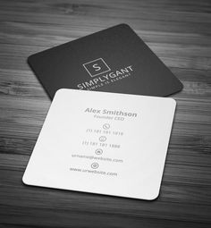 Cool kraft professional monogram square square business card chic mini square minimal business card reheart Image collections