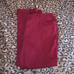 Maroon jeans Size From cj banks. Never worn. Ready to be shipped. Very pretty burgundy maroon color. WILL CONSIDER TRADES Christopher & Banks Jeans Straight Leg Maroon Jeans, Maroon Color, Banks, Bermuda Shorts, Jeans Size, Burgundy, Product Description, Legs, Pretty