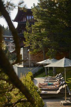 Bergsommer am See im Hotel Hochschober Solarium, Cabin, House Styles, Home Decor, Water Aerobics, Holiday Program, Rowing Scull, Log Fires, Steam Bath