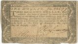 Maryland one dollar note, 1776