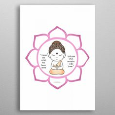 Cute Buddha inside a lotus by Shawlin Mohd Wall Art Prints, Canvas Prints, Framed Prints, Fine Art Posters, Painted Cups, Muse Art, Office Art, Canvas Pictures, Vintage Posters