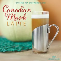 A Steeped Tea Exclusive Blend, Canadian Maple Latte is the best way to celebrate a maple-black tea harmony!