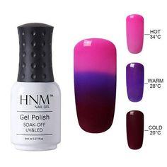 HNM Temperature 3 Colors Changing Gel Nail Polish Mood Nail Gel Polish UV Nail Glue Gel Lak Gel Varnishes Gelpolish