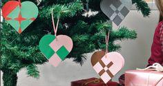 Paperisydämet Ohje: http://www.kodinkuvalehti.fi/artikkeli/suuri_kasityo/askartelu_ja_muut_tekniikat/joulukuusen_sydankoristeet