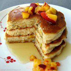 100 Days of Gluten Free Recipes: Gluten Free Spiced Peach Pancakes Recipe