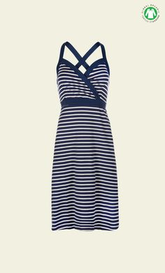 King Louie - Cross Back Dress Breton Stripe