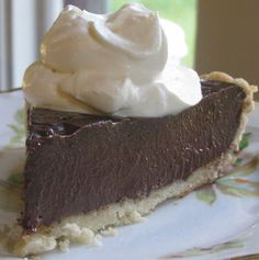 Food for A Hungry Soul: Chocolate Cream Pie