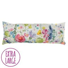 Bluebellgray Tetbury Meadow cushion - Inspired by the rainbow of wild-flowers in HRH Prince of Wales' Wildflower Meadow, these signature florals inject a dose of feel good design into the home. Tetbury Meadow is a true show piece; she sits wonderfully on a sofa or bed and makes a real design statement.