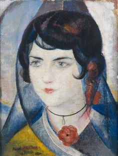 Ángel Zárraga (1886-1946) - L'espagnole à la Rose, 1914