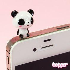 Koru kuulokeliitäntään - Nyökyttävä Panda, 1,70e Mobile Accessories, Phone Accessories, Phone Organization, Kawaii Shop, Clay Charms, Phone Covers, Phone Holder, Panda Bear, Cool Stuff
