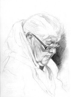 Portret Staruszki, pencil on paper,29,7x42, 2015 http://agatakaszuba.blogspot.com/