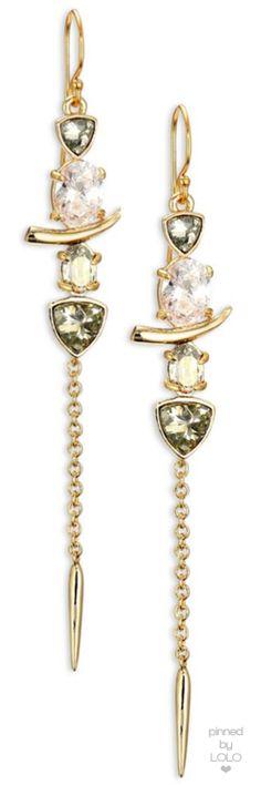 Alexis Bittar Miss Havisham Multi-Stone Dangling Spear Drop Earrings |  LOLO❤︎