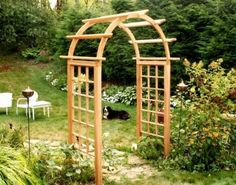 "Cedar Arched Arbor Opening Size: 60"" by Creekvine Designs. $799.00. Size: 94""H x 70""W x 30""D. Made in the USA. Color: Natural. This item ships common carrier.. Free Anchor Kit Included. EY60ARCVD Opening Size: 60"" Features: -Arbor.-Material: Western red cedar.-Zinc plated steel.-Made in U.S.A..-Post: 4'' x 4''.-Lattice: 1'' x 2''. Includes: -Free anchor kit included. Options: -Available in 42'', 48'', 54'', 60'', 66'' and 72'' opening sizes. Assembly Instructions..."
