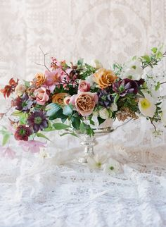 Stunning Flower Inspiration and Wedding Ideas You Should See - wedding centerpiece idea; via Mademoiselle Rose