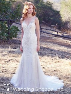 Maggie Sottero's Kyra dress catches the light with gorgeous Swarovski crystals.   2018 Bridal Trends: The Top Styles to Fall in Love With   The Wedding Shoppe