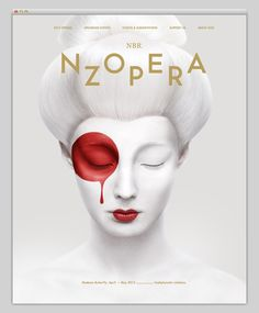 poster, photo, white, red, opera