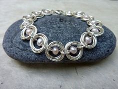 chain maille and bead bracelet