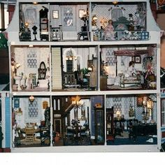 my victorian miniature doll house made with love, crafts, Back