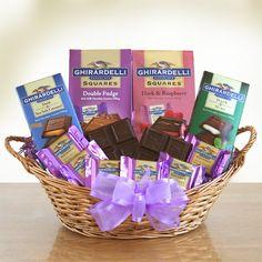 b67b98cc4ab Ghirardelli Chocolate Heaven Gift Basket Gourmet Gift Baskets