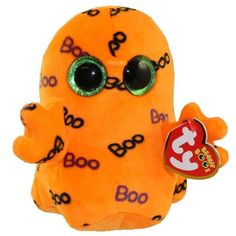 TY Beanie Boo Plush - Ghoulie The Ghost Original Glub sliding's Beanie Boo's For collectors Over 40 different designs Halloween limited. Ty Beanie Boos, Ty Boos, Beanie Babies, Halloween Beanie Boos, Halloween Boo, Halloween Ideas, Peluche Lion, Ty Stuffed Animals, Stuffed Toys