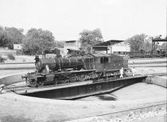 NWR (North Western Railways) at Rawalpindi (engine on Turntable) British India (currant Pakistan).