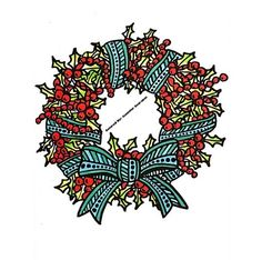 I love wreaths and also like making them. lol  30 Pages in 30 Days Day 3 Artist: Sarah Clark Book: Coloring Christmas (Pocket Edition) #sarahrenaeclark #coloringchristmas #pocketedition