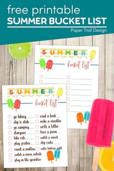 Summer bucket list ideas with a summer bucket list printable including a blank summer bucket list to fill in for kids, or teens. Printable Crafts, Templates Printable Free, Free Printables, Bucket List Family, Summer Bucket Lists, Summer Crafts For Kids, Summer Kids, Easy Diy Crafts, Diy Craft Projects
