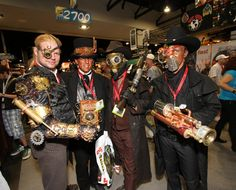 Steampunk cosplayers at Comic Con