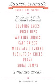 Shape Up: Lauren Conrad's Get Fit Quick Plan
