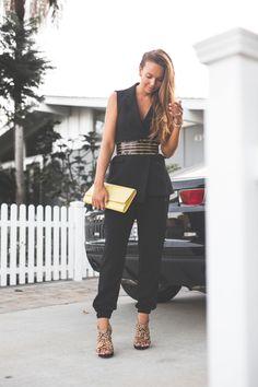 vest ZARA / belt BALMAIN x H&M / pants SELECTED FEMME / shoes CESARE PACIOTTI / bag YSL