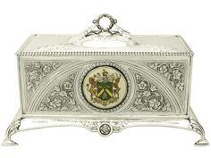 Antique George VI Sterling Silver Jewellery Casket