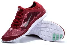 Nike Free 3.0 V7 Womens Wine Red Silver White