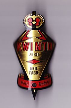 Vtg KWINTO HEAD BADGE BIKE emblem headbadge cycle front in Collectables | eBay