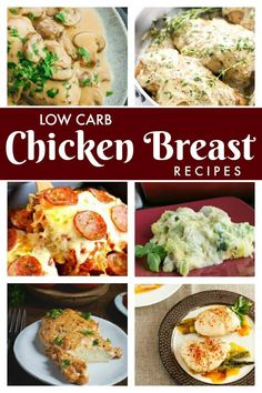 Easy and delicious #keto #lowcarb chicken breast recipes that the whole family will enjoy. #ketorecipes #chickenrecipes #chickendinner | LowCarbYum.com
