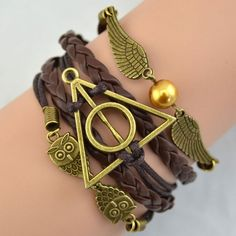 Cool! Deathly Hallows Wings Owl  Bracelet just $9.9 from ByGoods.com! I can't wait to get it!