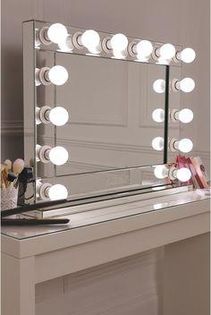 Vanity Mirror With Desk Amp Lights Diy Vanity Mirror Room