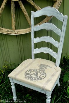 grain-sack-chair Could this be a way to fix the broken bottom of ricking chair with basmati rice sack and wood bottom?