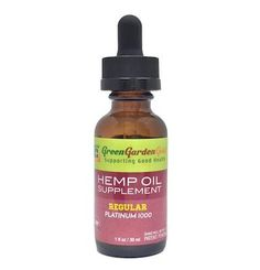 Platinum Level Hemp Oil Supplement has 1000mg of CBD in a 30ml tincture. Green Garden Gold is a leading producer of the highest quality organic hemp oil products whose goal is to support health and a beneficial lifestyle.