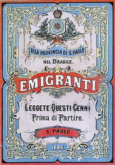 Italian Immigration in Sao Paulo Ephemeral Art, Sao Paulo Brazil, Little Italy, Vintage Italian, Vintage Kids, Vintage Travel Posters, Poster Vintage, Vintage Labels, Beauty Art