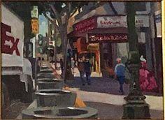 """Lynne Fearman """"Looking South on Broadway"""" 9x12 oil on Linen"""
