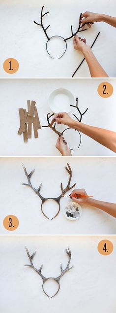DIY Deer Antlers for your woodland themed Halloween costume