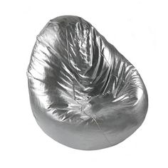 Moroccan Silver Slouchy Bean Bag Chair