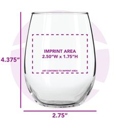Image result for size of etch on stemless wine glass
