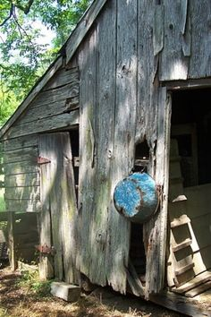 old barn & wash tub by Cherie May Grantham